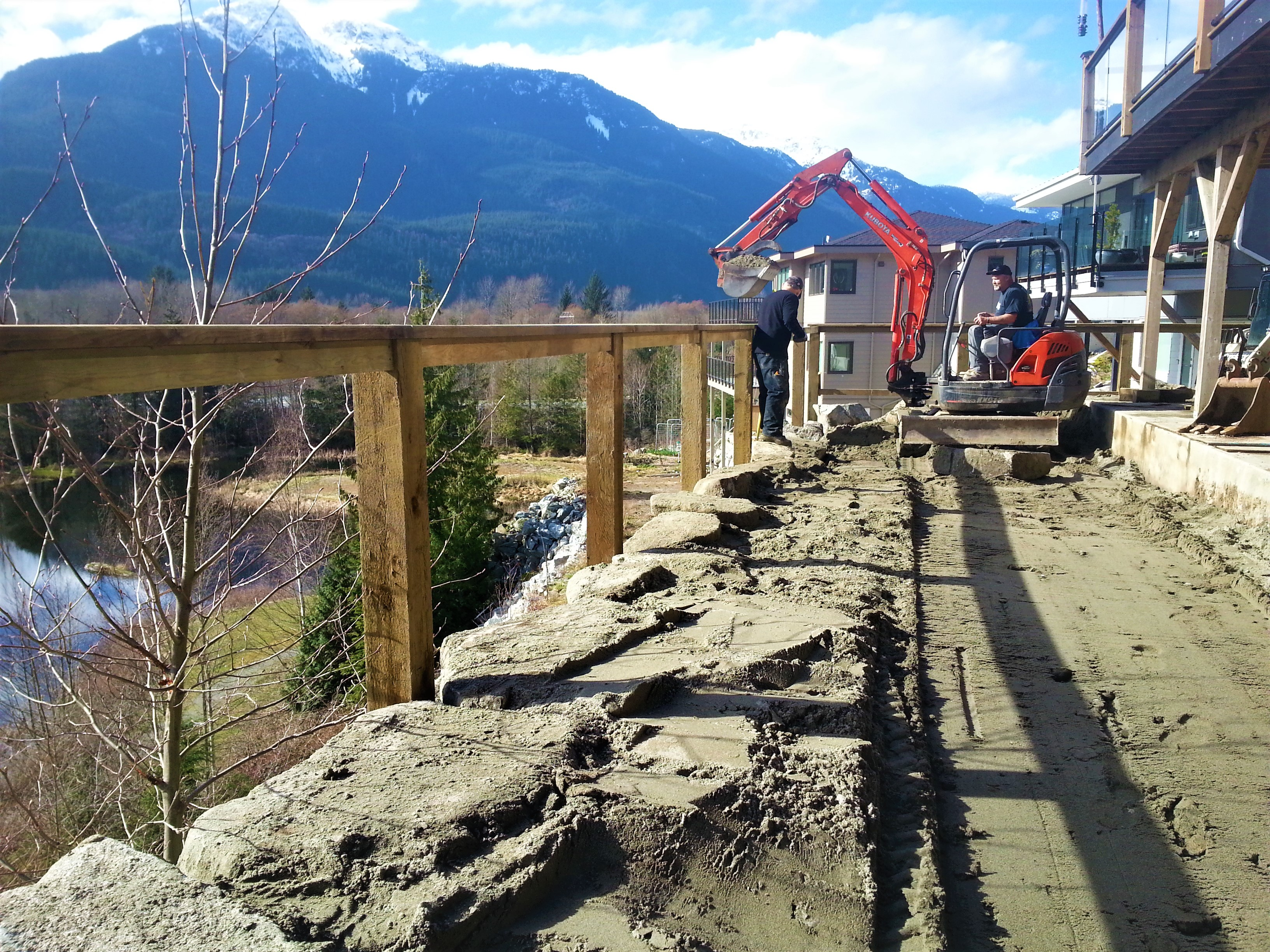 Retaining wall construction West Vancouver BC